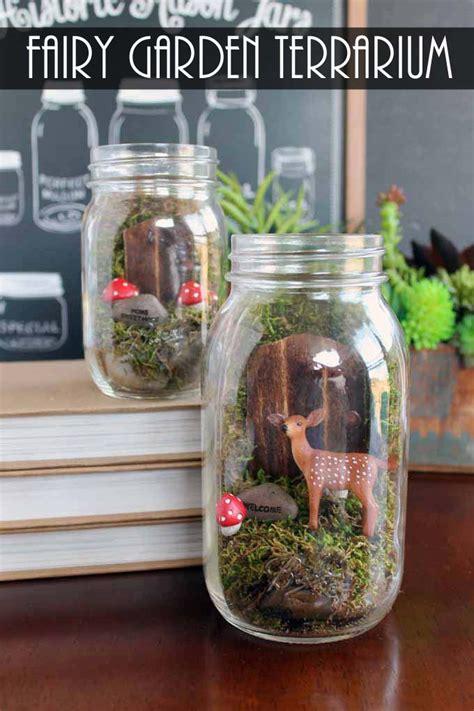 themes mekar jar fairy garden terrarium in a mason jar the country chic