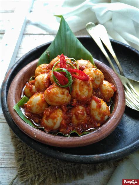 Cetakan Puding Telur Ayam Puyuh Besar telur puyuh balado pedas dan lezat resep resepkoki