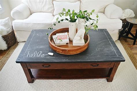 Chalkboard Coffee Table by Chalkboard Top Coffee Table Makeover Liz