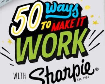 Facebook Sharpie Giveaway - sharpie 50 ways to make it work contest