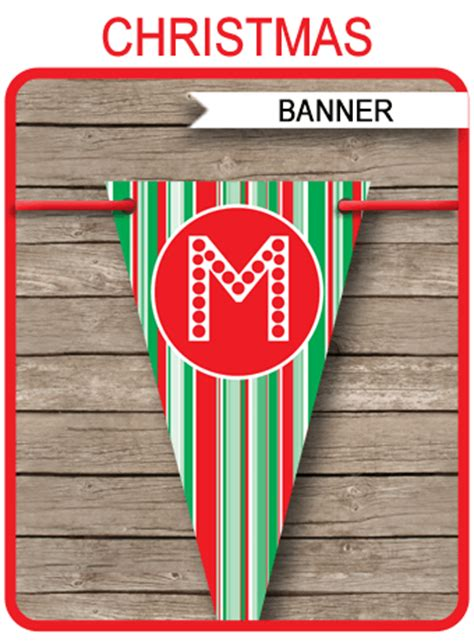 christmas banner template merry christmas banner editable bunting