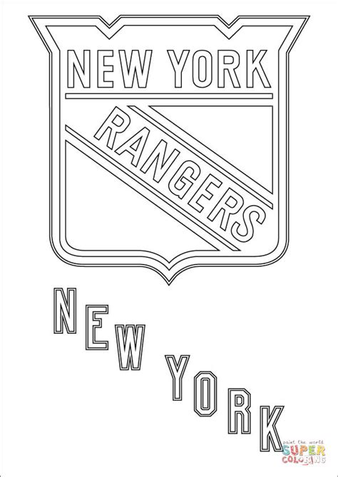 new york rangers by the numbers a complete team history of the broadway blueshirts by number books new york rangers logo coloring page free printable