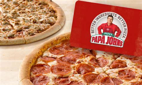 Papa John S 25 Gift Card Free Pizza - 25 55 value papa john s egift card 2 free large pizzas