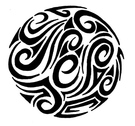 circle tribal tattoos tribal circle clipart best