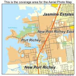 aerial photography map of port richey fl florida