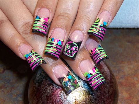 Neon Nail by Neon Color Nail Designs 2017 2018 Best Cars Reviews