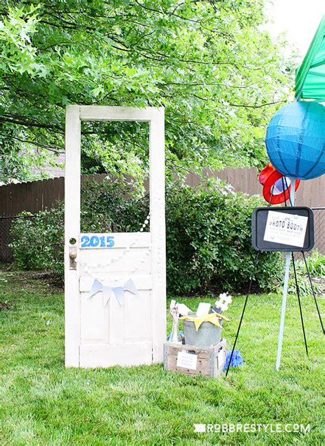 Decorating Backyard Wedding Diy Graduation Party Ideas Robb Restyle