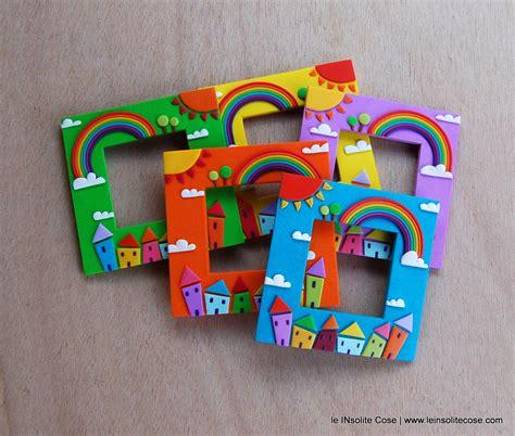 cornici magnetiche cornici magnetiche portafoto con arcobaleno sole nuvole