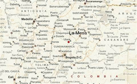 la mesa colombia location guide