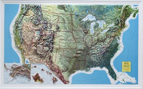 altitude maps united states raised relief maps 3d topographic map united states series