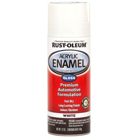 home depot spray paint metal rust oleum automotive 12 oz white gloss acrylic enamel