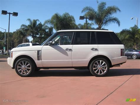 land rover supercharged white 2009 alaska white land rover range rover autobiography