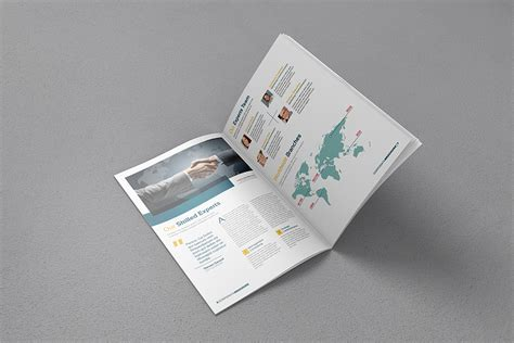 a4 free brochure mock up free design resources
