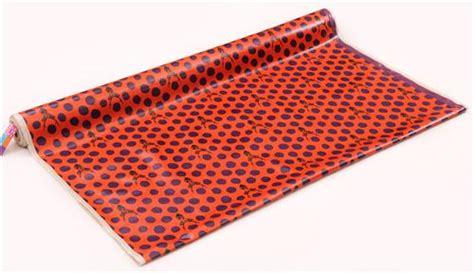 orange echino samber canvas laminate fabric stag with polka dots from japan laminates fabric