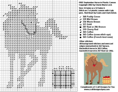 plastic canvas pattern maker free online free plastic canvas patterns horse