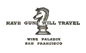 gun will travel business card gun will travel 1957 63 vintage45 s
