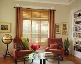 kitchen curtains window treatments ideas: curtain ideas with wood blinds homeminimaliscom