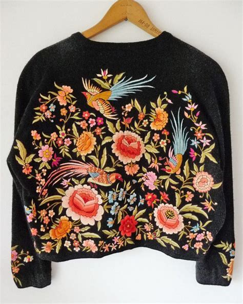 embroidery sweater embroidered sweater charm