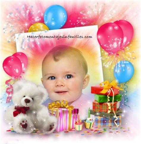 fotomontajes de feliz cumplea os fotomontajes infantiles marcos fotomontaje de cumplea 241 os con globos y osito
