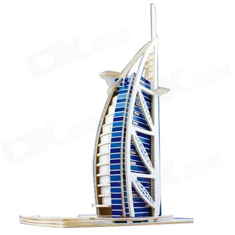Robotime Dubai Hotel Mj207 robotime jpd460 dubai sailing hotel wooden diy assembly model free shipping dealextreme