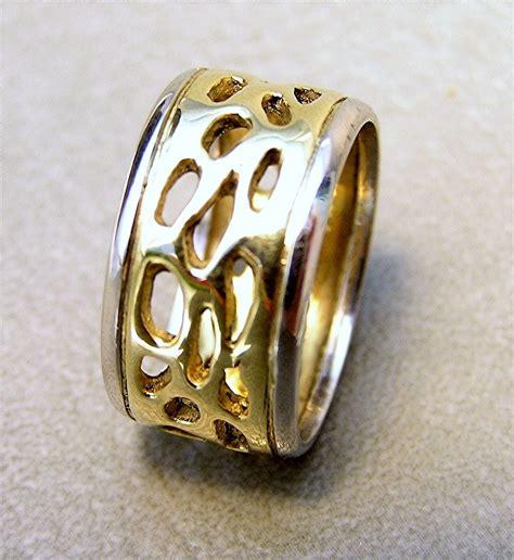 Handmade Gold Wedding Rings - handmade 18k gold platinum 10mm wedding band custom