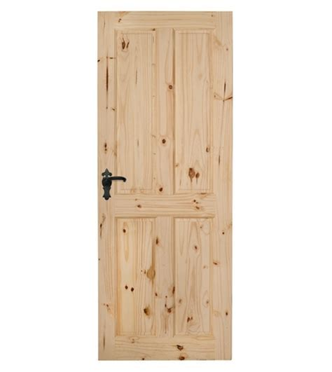 4 Panel Knotty Pine Door   Howdens Joinery