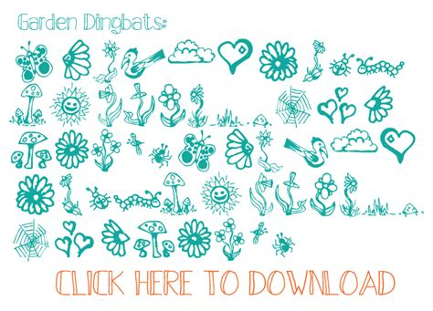 free doodle dingbat fonts i should be mopping the floor free summer doodles and