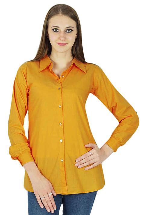 best cotton new indian summer top cotton shirt long sleeve solid women