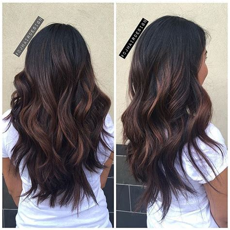 balayage ombre highlights on dark hair best balayage on dark hair 2017 balayage highlights