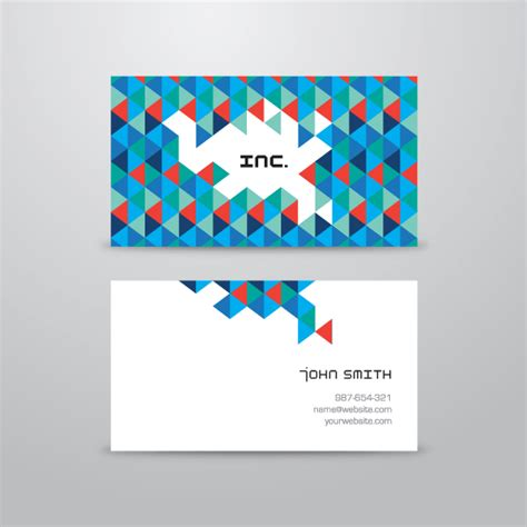 abstract business cards templates free abstract triangular business card template vector