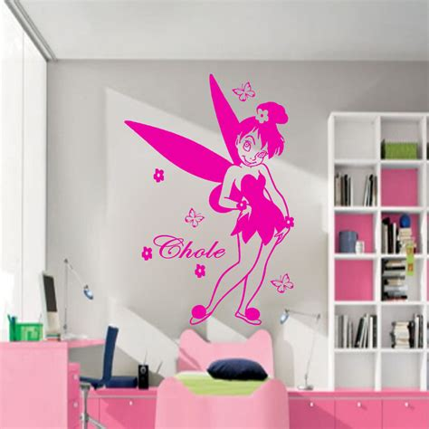 Disney Fairy Tales Personalized Name Vinyl Wall Art Disney Wall Decals For Nursery