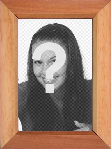 mettere cornice a foto stile cornice di legno per mettere una foto fotoeffetti