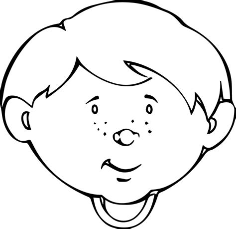 kawaii faces coloring pages cute child face coloring page wecoloringpage