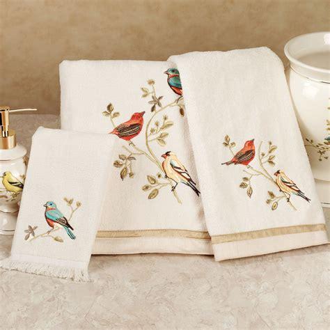 towel designs for the bathroom gilded bird embroidered bath towel set
