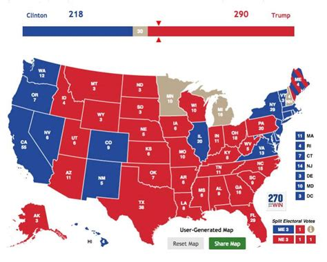 2016 presidential endorsement poll results united auto presidential election results electoral college map