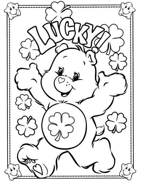cool printable care bear coloring pages with march
