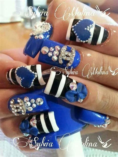imagenes de uñas decoradas para 15 años las 25 mejores ideas sobre u 241 as azul rey en pinterest y