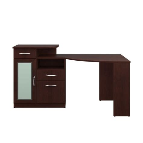 Bush Vantage Corner Computer Desk Bush Vantage Corner Home Office Computer Desk In Harvest Cherry Hm66615a 03