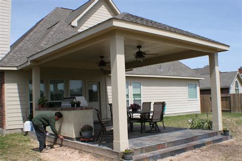 covered backyard patio patio cover outdoor kitchen hhi patio covers
