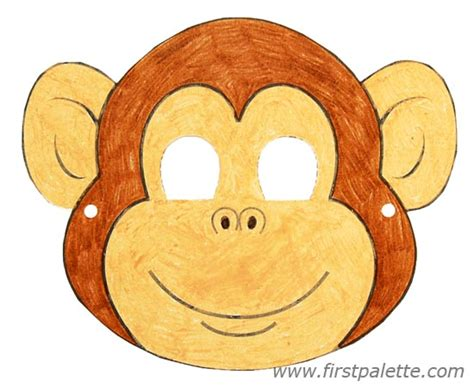 new year monkey masks templates printable animal masks craft crafts firstpalette