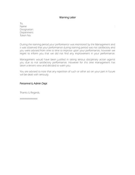Employee Warning Letter Sle Poor Performance Best Photos Of Employee Warning Letter Employee Warning Letter Sle Employee Attendance