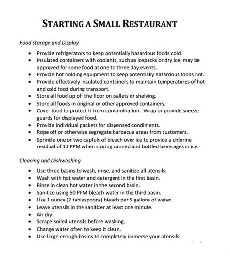 restaurant business plan template free 32 free restaurant business plan templates in word excel pdf