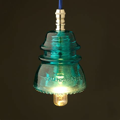 Insulator Pendant Lights Hemingray Insulator No42 Light Aqua 240v E14 Pendant Light