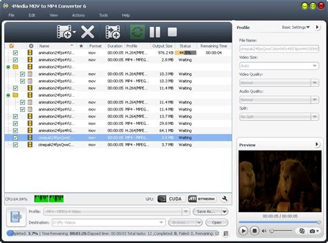 converter mp4 to dat 4media mov to mp4 converter screenshot x 64 bit download