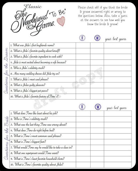 newlywed questions for bridal shower the 25 best newlywed questions ideas on