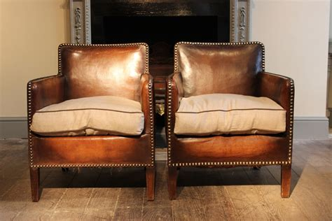 studded leather armchair wonderful pair of small 1920s french studded leather