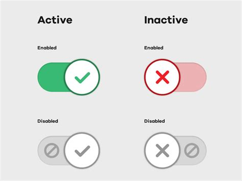 checkbox ui pattern checkbox switch ui with disabled affordance icon by adam