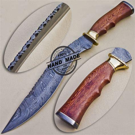 Best Handmade Knife - damascus folding liner lock knife custom handmade