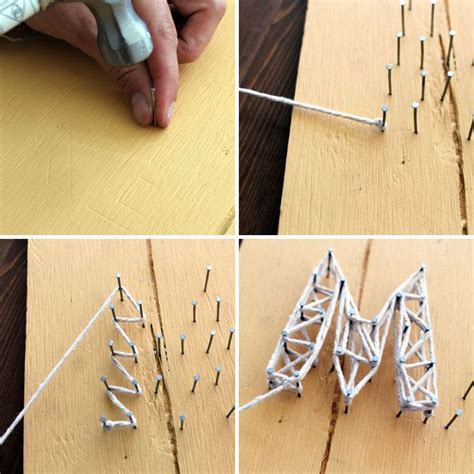 How To Make String With Nails