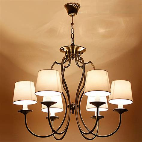 Modern Metal Chandelier Modern Fabric Shades And Metal Chandelier 9823 Browse